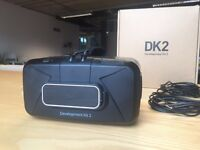Oculus Rift DK2 virtual reality headset with Leap Motion Controller