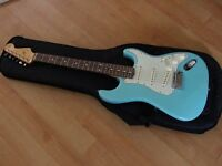 Fender Classic 60s Stratocaster (cerulean blue) - with upgrades