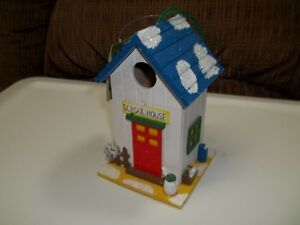 Multi-Colored Wooden Bird House.