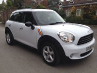 2012 62 MINI COUNTRYMAN ONE 1.6 5 DOOR HATCHBACK WHITE