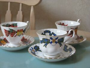 Cups & Saucers, New Brunswick, Scottish Tartans