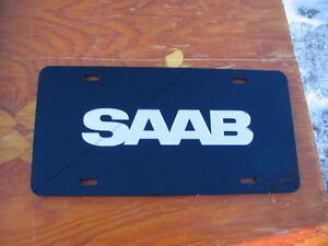Rare Saab Dealership Showroom License Plate  Mirrored letters