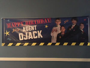 Odd Squad personalized bday banner and size S sweater for Jack