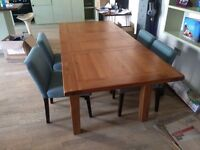 Provence Extending Oak Dining Table - A Large or Small table in one!