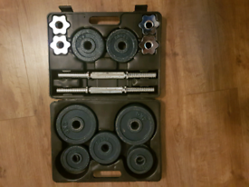 18kg Cast Iron Dumbbell Set