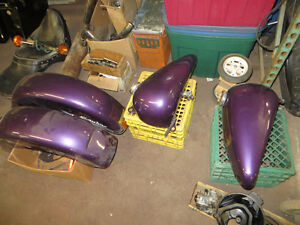 OEM Harley Tins set ( Gas tanks, Front and Rear Fenders)
