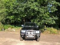 2004 04 MITSUBISHI L200 2004-2.5 TD 4WD LWB WARRIOR DCB 1D 114 BHP BLACK DIESEL