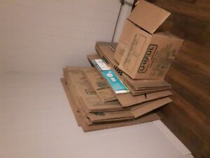 Moving boxes. Approximately 2 dozen