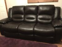 Brown leather 3+1 (recliners)