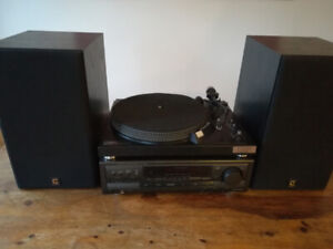 Technics Record Player + Sound System