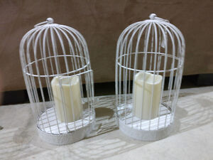 Set of 2 small decorative bird cages with LED candles London Ontario image 1