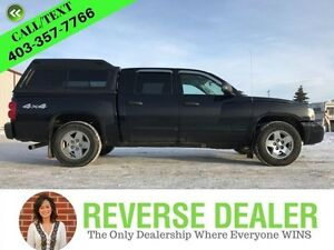 2006 Dodge Dakota SLT  Crew, 4x4, Heated Seats, Auto, Box Cap