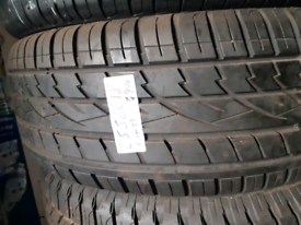 255 60 18 part worn tyre continental used tire