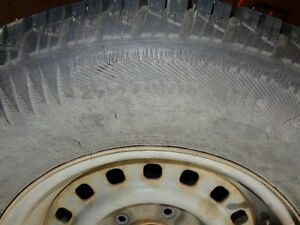 Studded winter tires on rims, F.Expedition 98 or 1/2 ton Ford Prince George British Columbia image 2