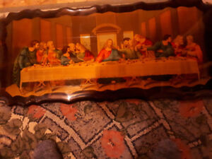 Last Supper picture  on wood