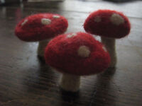 Needle felting Magical Woodland Mushrooms