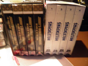 Two VHS box sets The Carson Collection and Shackleton from A&E Gatineau Ottawa / Gatineau Area image 2