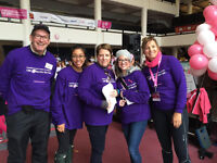 Volunteers for CIBC Run for the Cure