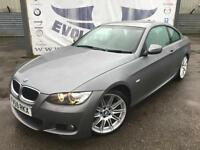 2009 BMW 3 SERIES 320D M SPORT HIGHLINE COUPE BLACK LEATHER HEATED SEATS 19 INCH