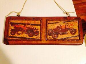 Folk Art Leatherwork w/ Antique Cars