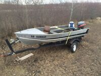 16 ft Lund fishing boat