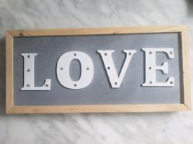 Love light up vintage sign/decoration