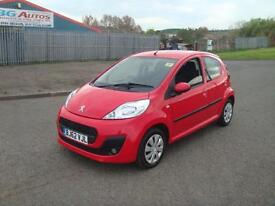 2012 62 PEUGEOT 107 1.0 ACTIVE 5DR RED £20 YR TAX 1 OWNER