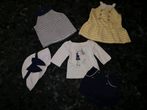 Beautiful baby girl summer lot 6-12 months Zara Janie and Jack