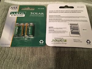 Solar Rechargeable Batteries AAA Ni-CD