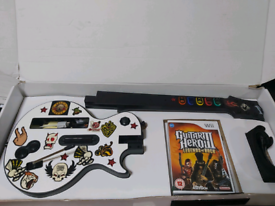 Nintendo wii guitar set boxed