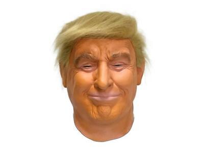 Donald Trump Mask For Adults Realistic Celebrity President Halloween Party Props - Celebrities For Halloween