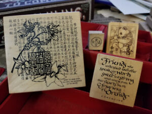 Asian themed rubber stamps $10
