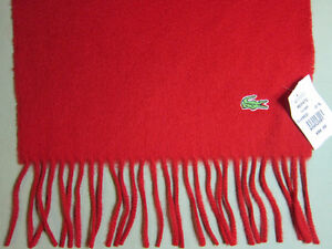 Lacoste Cashmere & Wool Scarf, NEW with tags, Retail $98 for $30