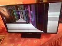 Samsung 32 inch smart Tv full HD LED but screen damaged