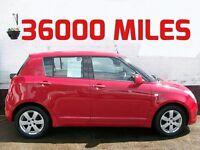 36000 MILES SMALL 5 DOOR SUZUKI SWIFT 1.5 GLX 2008 FULL SERVICE HISTORY