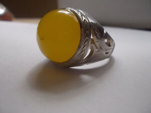 Yellow Agate Silver Ring Windsor Region Ontario image 4