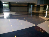Interior decorative epoxy and cement overlay