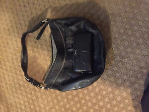 Coach leather bag and wallet