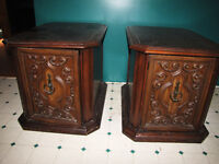 Matching Old Fashioned Solid Wood End Tables