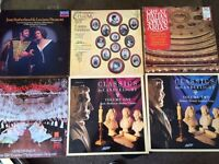Classical music album record collection