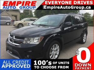 2014 DODGE JOURNEY RT * AWD * LEATHER * NAV * REAR CAM * DVD * S