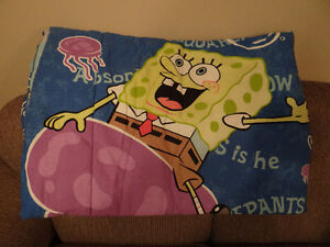 Spongebob Twin Comforter and Pillow Case