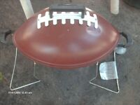 GOOD FOR THE MANCAVE=REAR-FOOTBALL BARBEQUE