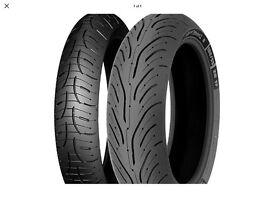 Michelin pilot 4 pair 120/70ZR17 & 180/55zr17