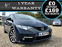 2013 HONDA CIVIC 1.6i-DTEC EX DIESEL ☆ SAT-NAV ☆ LEATHER ☆ TOP SPEC ☆ NEW MOT!