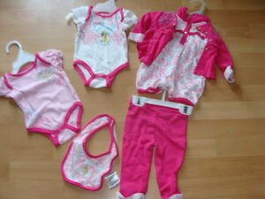 5 Pieces Baby Phat clothes for Girls- 0-3 MONTHS