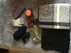 Women's scarves, hats, mitts