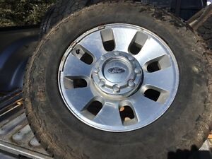 "Factory Ford F-350 18"" rims with Tires"