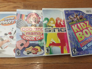 Wii games - Kids Bop, Disney Sing, Cooking Mama, Game Party