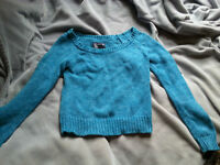 Teal Knit American Eagle Sweater